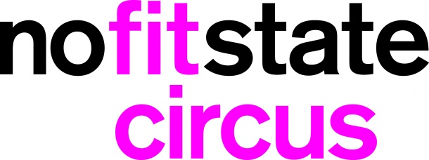 No Fit State Circus logo in black and pink