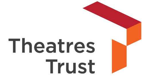 Theatres Trust logo in organge and red