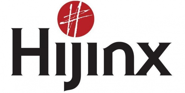 Hijinx logo in black and red