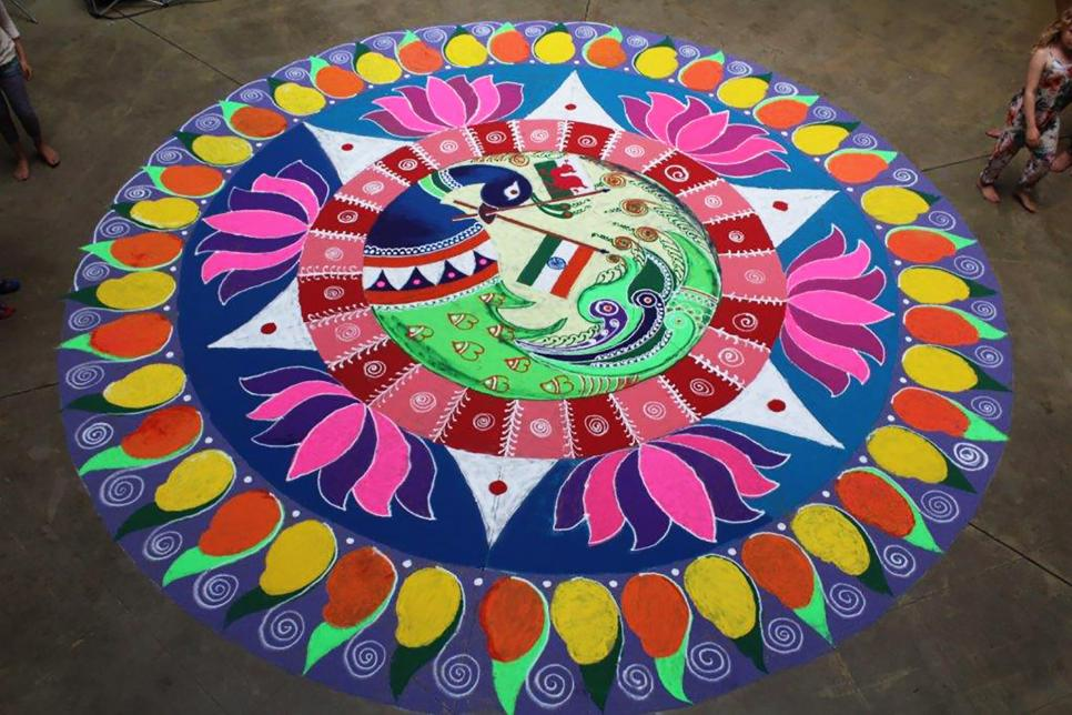 Colourful Rangoli Art
