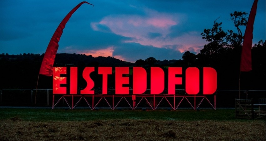 Photograph of a sign for the National Eisteddfod