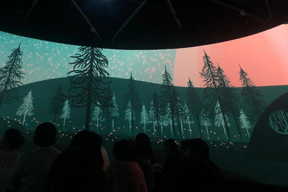 Immersive 360 animation film screening with seated audience