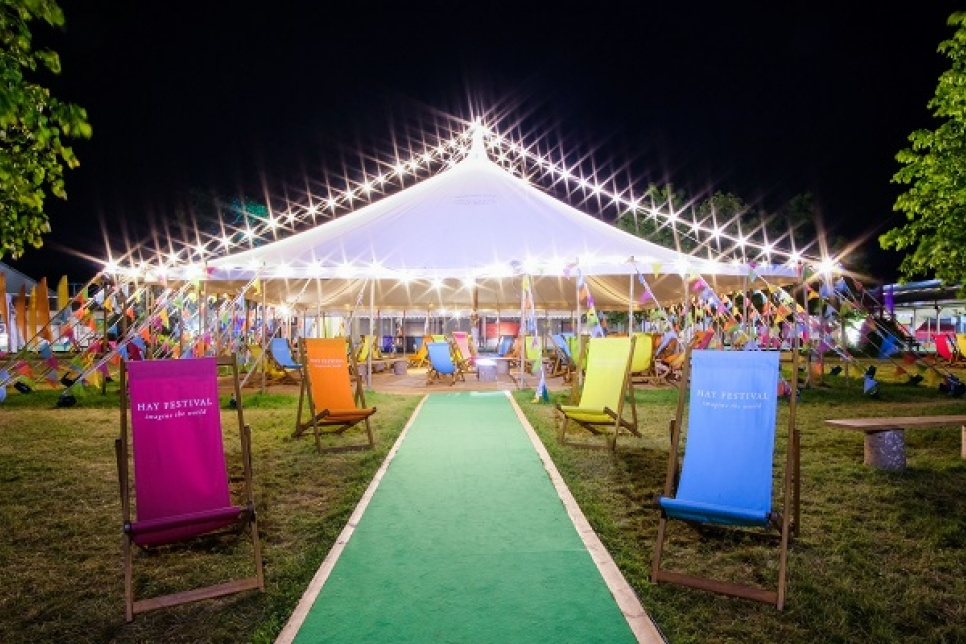 Image of entrance to Hay Festival