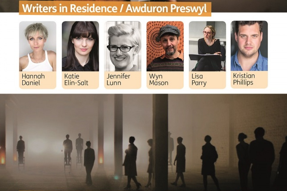 Poster showing images of the artists in residence