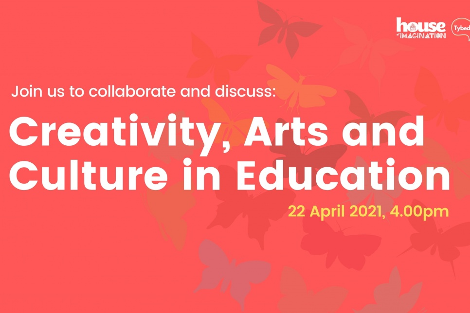 Creativity, Arts and Culture in Education logo on red background