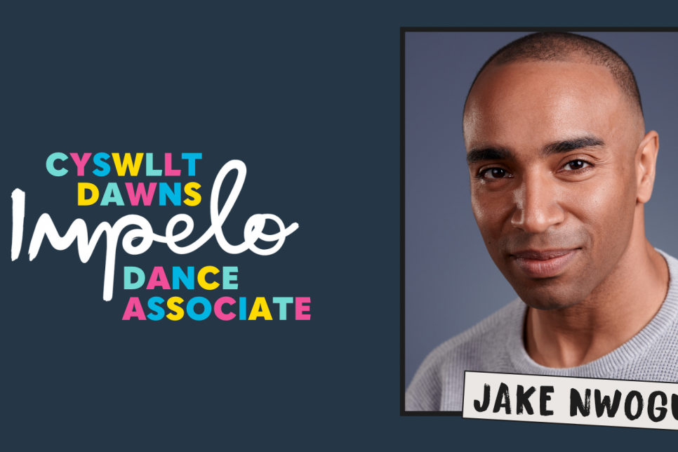 Impelo Dance logo with picture of Jake Nwogu
