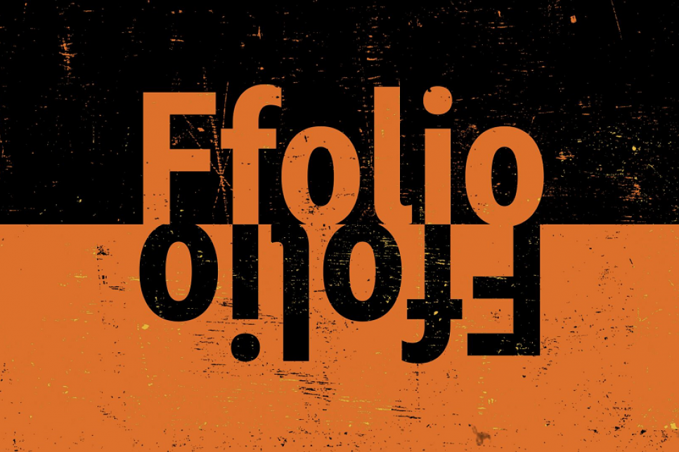 Ffolio logo in orange and black